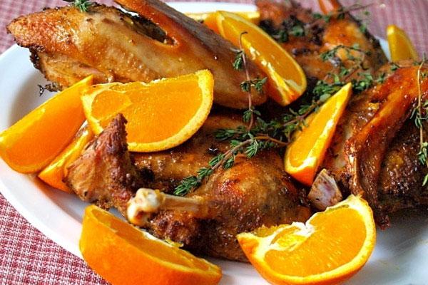 Утка с апельсинами в духовке